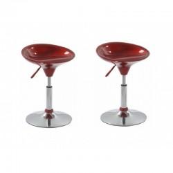 SGABELLO CORDOBA (XH-194), coppia di sgabelli design, rosso