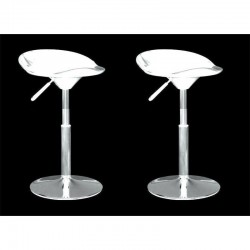 SGABELLO SEATTLE, (XH-194-1)coppia sgabelli,design,stool bianchi