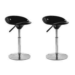 SGABELLO SEATTLE, (XH-194-1)coppia sgabelli,design,stool neri