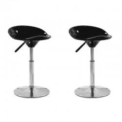 SGABELLO SEATTLE, (XH-194-1)coppia sgabelli,design,stool neri