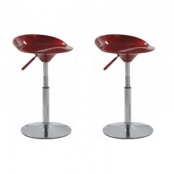 SGABELLO SEATTLE, (XH-194-1)coppia sgabelli,design,stool rosso