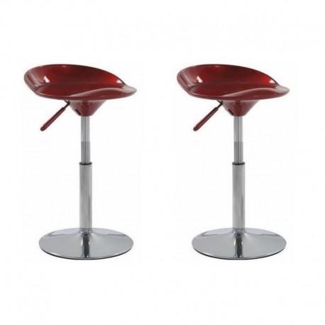 SGABELLO SEATTLE, (XH-194-1)coppia sgabelli,design,stool rosso
