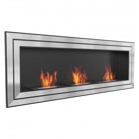 Biocamino 180x65 cm - 3 mega bruciatori - basic juliett 1800