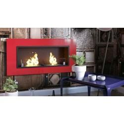 Camino a bioetanolo Udine Classic 7KW 110x54X15 cm rosso senza vetro