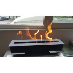 Bruciatore per biocamino FDB35 Nero 52 cm x 12 cm con accendino + Imbuto