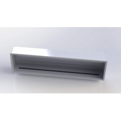 Biocamino da incasso 160 x 40 x 22 - 18KW - BIANCO Mod ERICA
