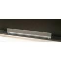 Vetro frontale 88 cm x 10 cm + 2 staffe color argento - vetro per biocamini