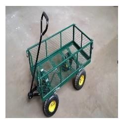 Oypla Heavy Duty Metallo Giardinaggio Trolley - Verde Trailer Carrello