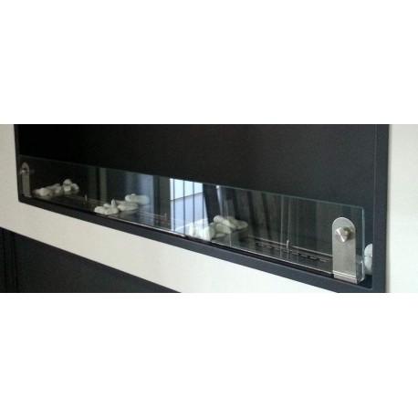 2 staffe in acciaio per vetro per biocamini