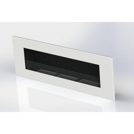 Camino Bioetanolo Bianco 120 cm delta 3 con vetro
