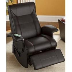 POLTRONA MASSAGGIANTE nera DIANA Poltrona relax vibrante, ecopelle , poltroncina TV , massaggi