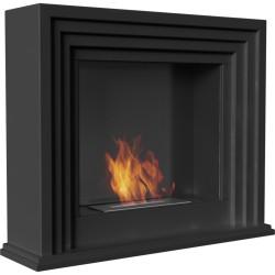 Biocamino mod QUAERERE nero con Bruciatore
