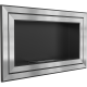 Biocamino 150 x 65 cm Acciaio - con vetro frontale incluso - versione 2017